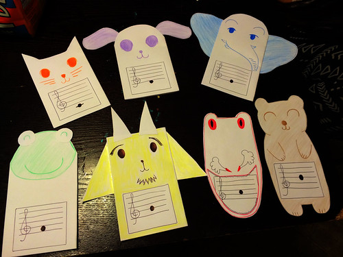 Animal Notation Flash Cards (September 17 2014)