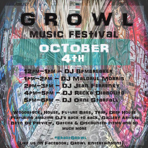 Growl Music Festival Oct 4th