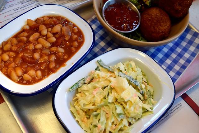 Beans & Slaw at Elsie Mo's Diner, Canterbury | www.rachelphipps.com @rachelphipps