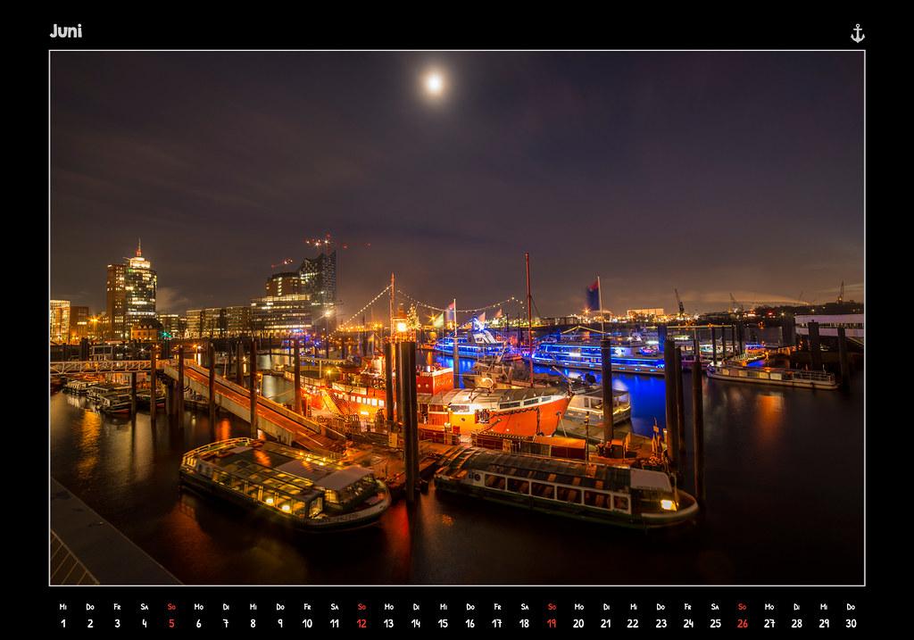 kalender2016_HAMBURG 2016 - FROM DUSK TILL DAWN - KALENDER // JUNI