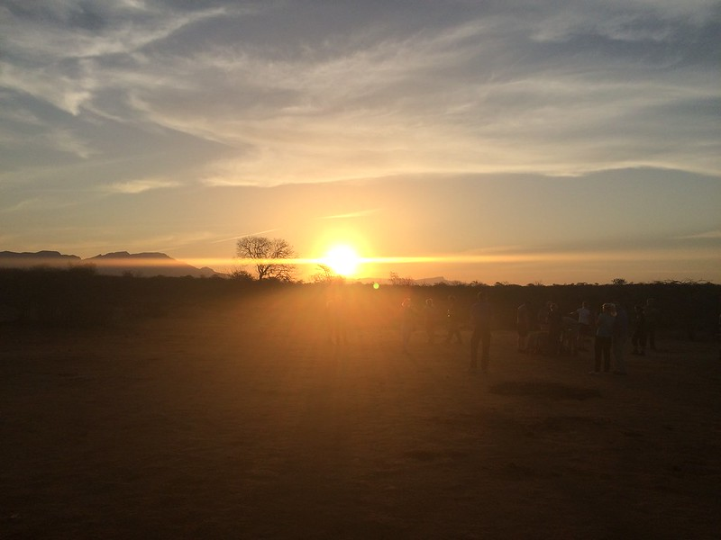 Sunset in Kapama Game Reserve.