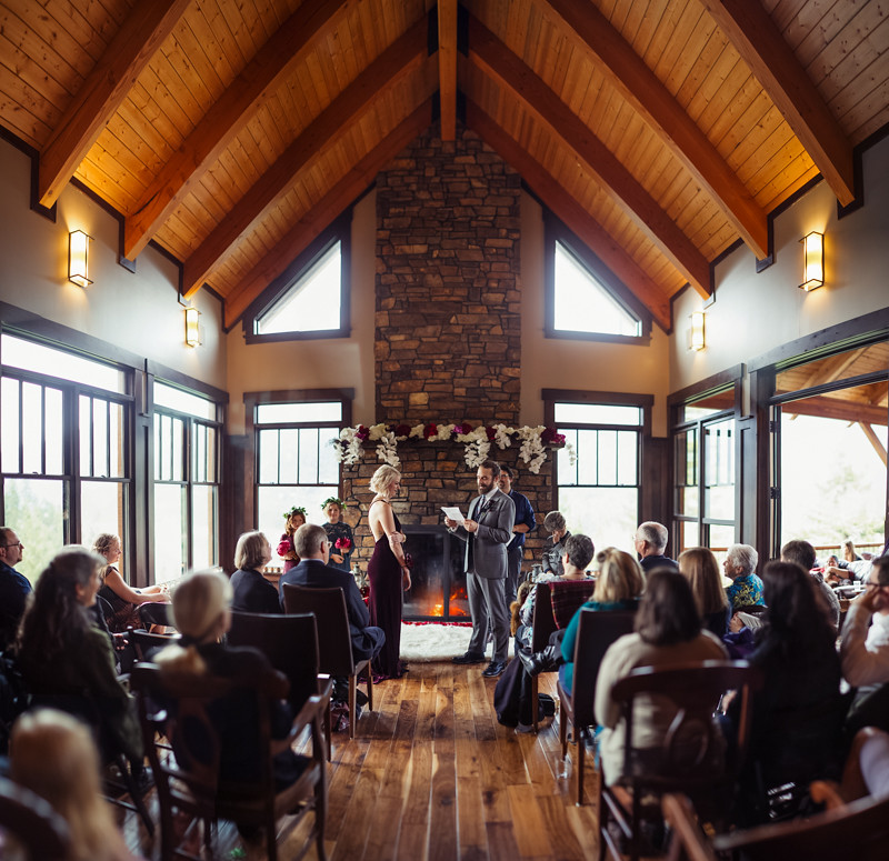 Seattle Mountain Lodge Harry Potter Inspired Elopement Wedding | Liz Morrow Studios