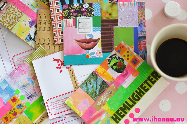Creating a Series of Postcards collage style + coffee, blog post by iHanna