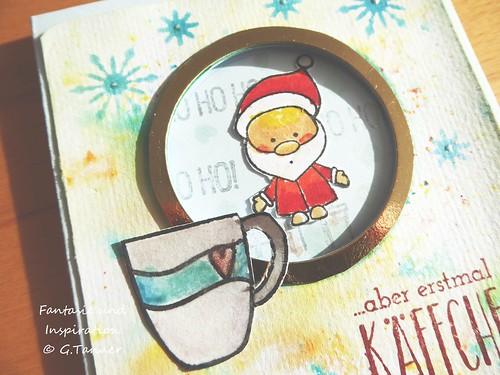 Nikolaus macht Pause - eine Fensterkarte