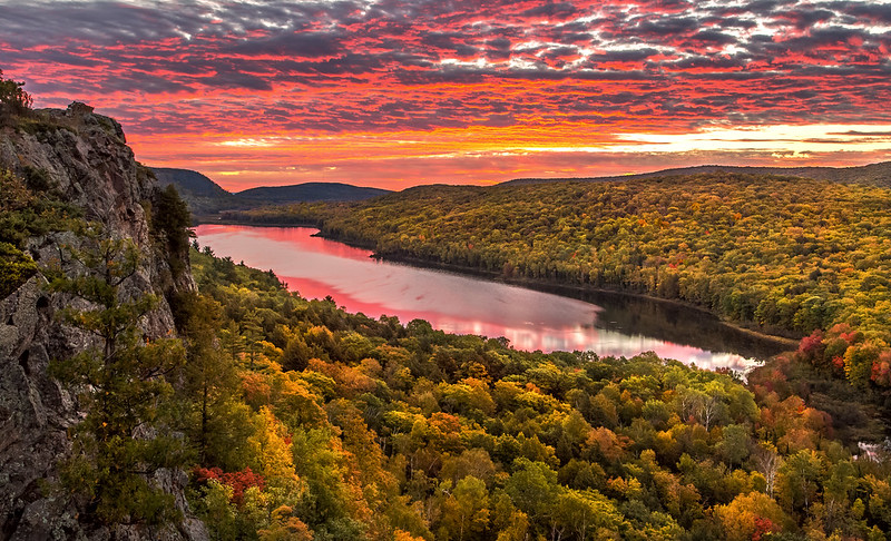 Spectacular Autumn Sunrise at Lake of the Clouds