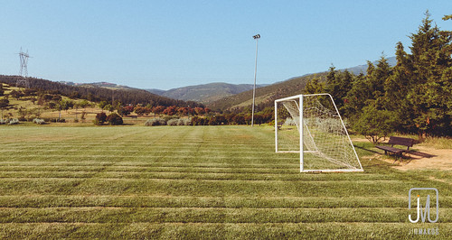 sports field grass football goal outdoor soccer greece thessaloniki pitch gr goalposts mypx makedoniathraki