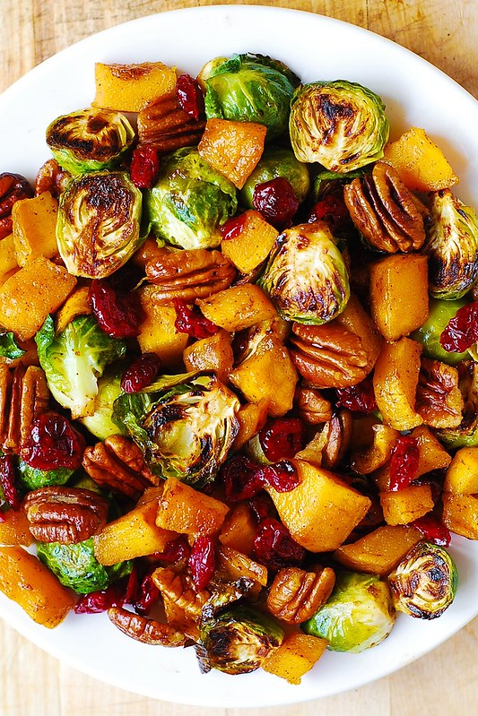Roasted Brussels Sprouts, Cinnamon Butternut Squash ...