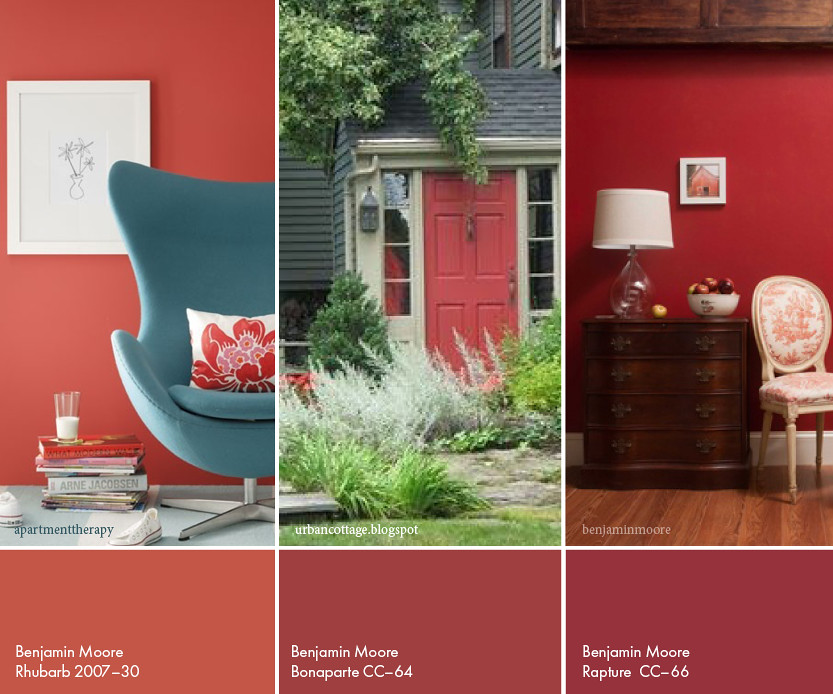 benjamin moore reds with photos