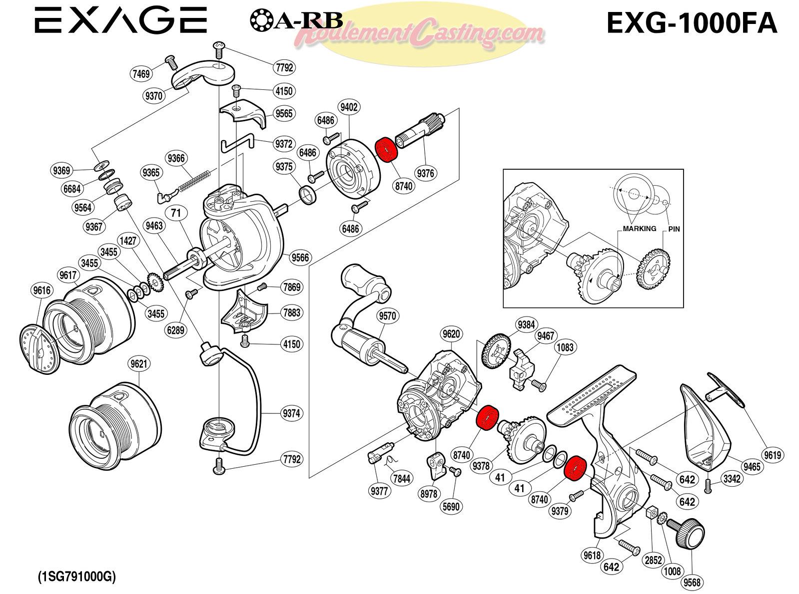 Schema-Shimano-EXAGE-1000FA