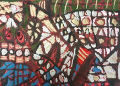 Abstract Kindergarten paintings. #mixedmedia #temperapaint #oilpastel #gold #shapes #lines #abstract #kindergartenart #kinderart #oakpark97 #elementaryart #art #arted #artwork #arteducation #abstractpainting #circles #squares #red #green #blue #msnaplesar