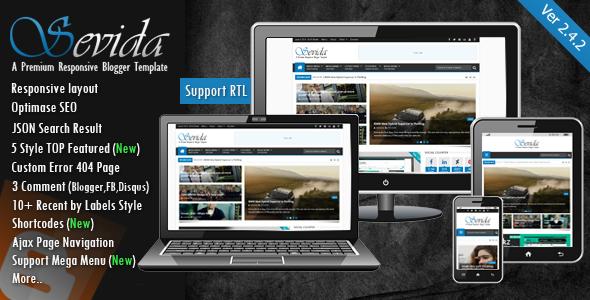 ThemeForest Sevida v2.4.2 - Responsive Magazine Blogger/Blogspot Template