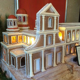 The Cathedral of San Juan Bautista, made out of gingerbread (235 eggs, 165 lbs of flour, 35 lbs of honey, 25 lbs of sugar and 1650 hours from the pastry and engineering teams) #gingerbreadhouse