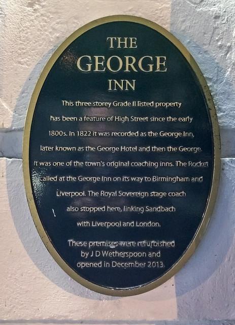 Photo of George Inn, Sandbach black plaque