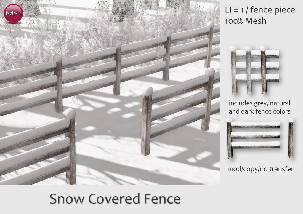 Snow Covered Fence - SecondLifeHub.com