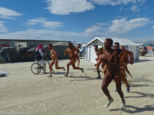 naturist run camp Gymnasium 0002 Burning Man, Black Rock City, NV, USA