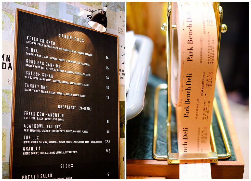 Park Bench Deli: Menu & Price List