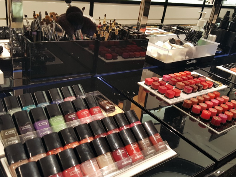 Chanel makeup counter