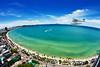 Pattaya beach and city  bird eye view, Thailand by SLEETAPAWANG