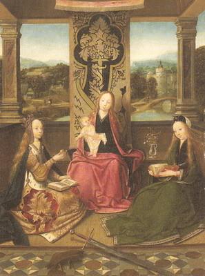 聖母子と聖バルバラ