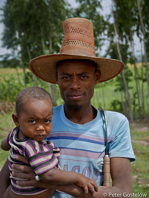 Ethiopian man and son
