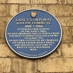 Photo of Joseph Tombs blue plaque