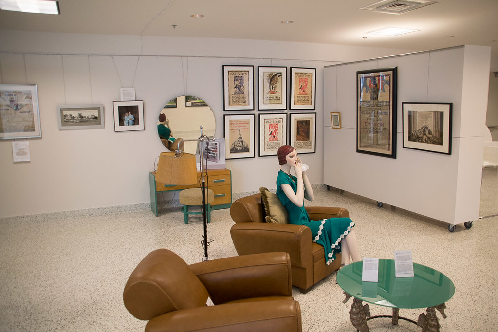 Inside the Art Deco Welcome Center at Miami Beach