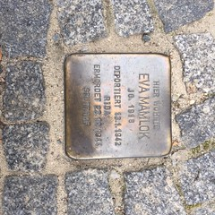 Photo of Eva Mamlok brass plaque