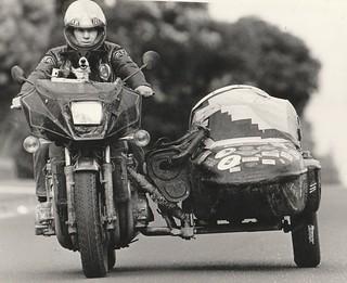 Kawasaki Z1300 and DJP Sidecar, Clayton, Victoria, Australia, 1986.