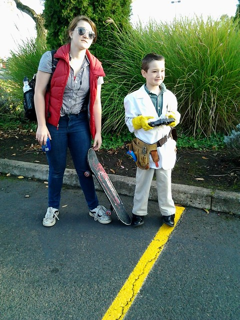 Emilie and Gavin as Marty McFly and Emmett Brown