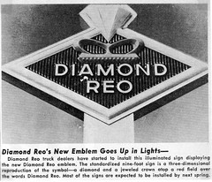 1968 Diamond Reo Truck Dealer Sign