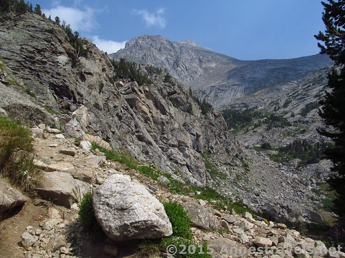 The trail continues up into Jackass Pass above North Lake, Wind River Range, Wyoming