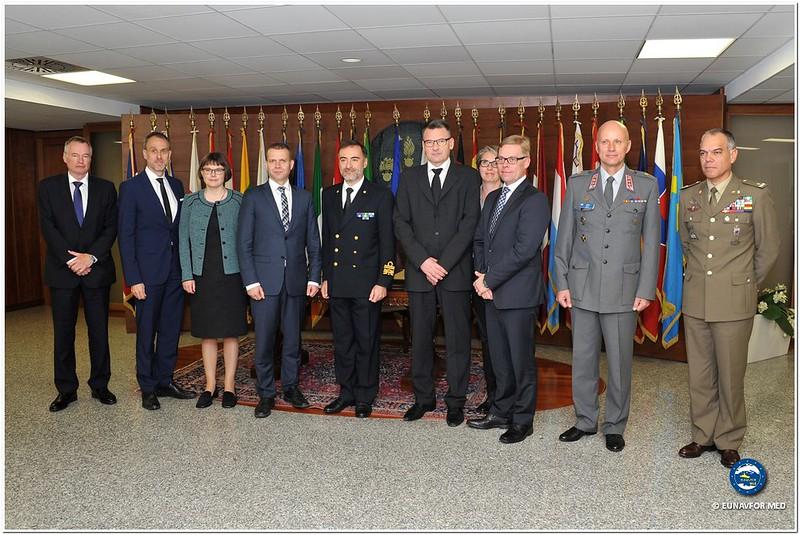 Finnish Minister of Interior visits EU OHQ – Op. Sophia EUNAVFOR MED