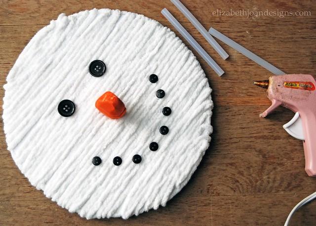 DIY Snowman Face