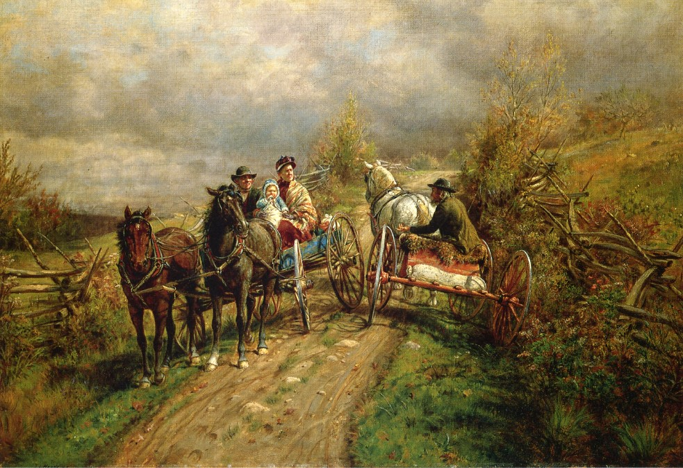 The Latest Village Scandal by Edward Lamson Henry - 1885