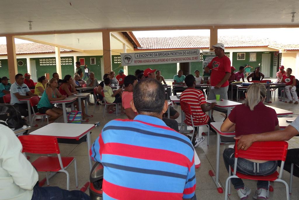 Assentados debatem reforma agrária popular durante  encontro de brigada.JPG