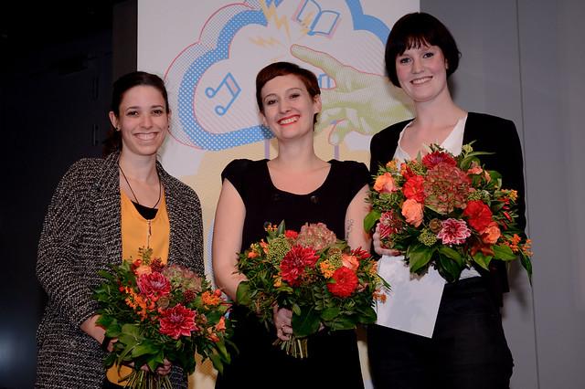 Elisabeth Winter (Preisträgerin, 2. Platz), Nora Burgard-Arp (Preisträgerin, 1. Platz), Anke Dankers (Preisträgerin, 3. Platz) Foto: Stephan Röhl