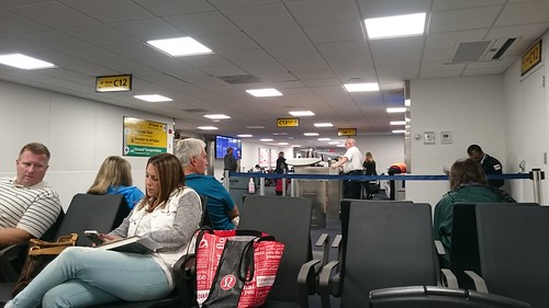 Passengers waiting for flight
