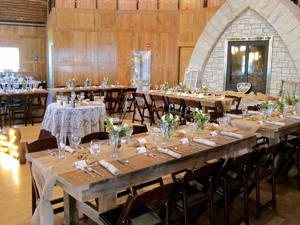 Natural Wood Table Rentals from Unique Events Iowa Unique Events
