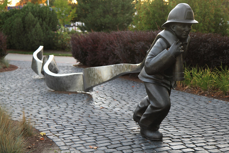 firefighter sculpture