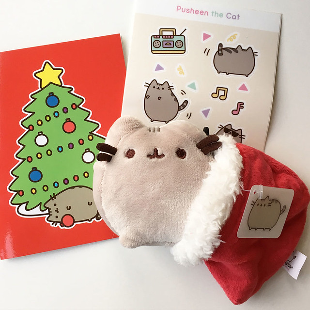 I got a box of cuteness from Pusheen! I love the ornament so much. Thank you Hey Chickadee