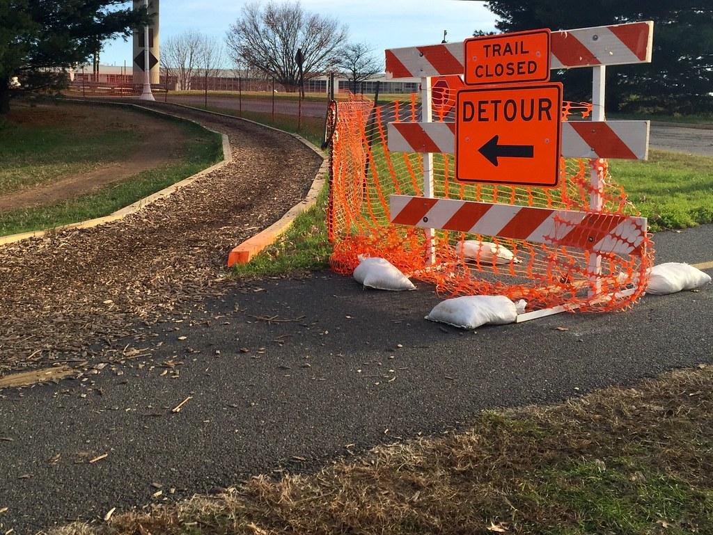 Trail closed detour