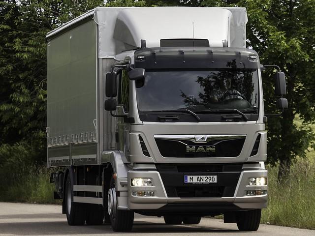 Развозный грузовик MAN TGM 18.290. 2012 год