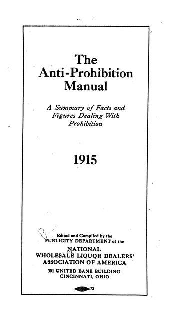 The Anti-Prohibition Manual (1915)