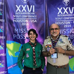 One of our young adults representing #ScoutsVenezuela. #NextGeneration #VenezuelaPresente #ScoutIAR.  #IASCHTX #InteramericanScoutConference #IARSC26 #ConferenciaScoutInteramericana #SMJoseTexas #MessengersOfPeace #ScoutingEducation #WOSM #Scouts #Scoutin