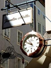 Omega Clock Sign of Juweler Nadler in Salzburg Austria