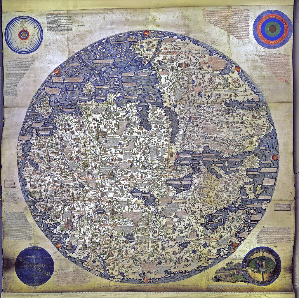 Fra Mauro World Map High Resolution Copy From 1806 Flickr
