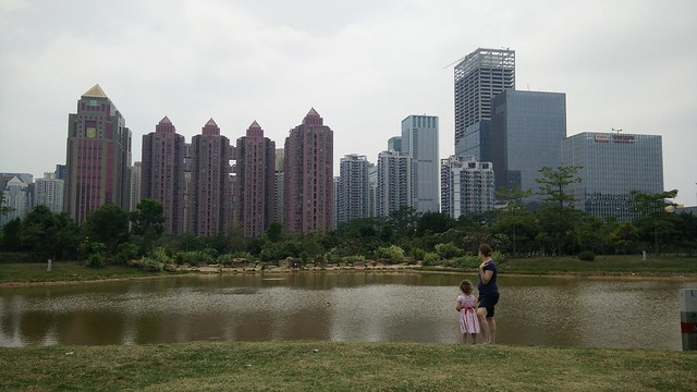 lake in Lianhua park