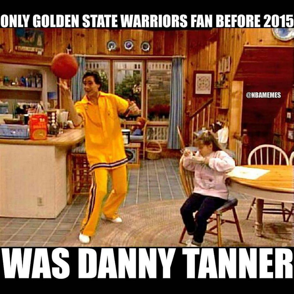 Danny Tanner from Full House was a real Golden State Warriors fan #sportsmemes #funnysports #nba #ratchet #lakersnation #heatnation #thundernation #spursnation #bullsnation #celticsnation #knicksnation #mavsnation #rocketsnation #warriorsnation #jazznatio