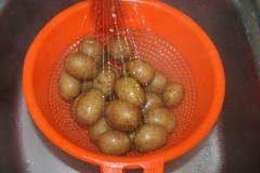 18 - Kartoffeln abgießen & abschrecken / Drai…