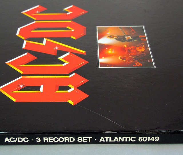 "AC/DC 3 RECORD SET ATLANTIC 60149 12"" 3x LP VINYL"